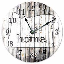 "OREGON RUSTIC HOME STATE CLOCK - Large 10.5"" Wall Clock - 2247"