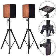 2 in 1 Speaker Stands Heavy Duty Adjustable Studio Monitor Pair Tripod Band DJ
