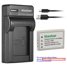 Kastar Battery Slim Charger for Olympus Li-80B & OLYMPUS T-100 T-110 X-36 X-960