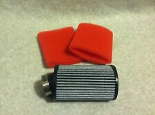 1 New Racing Go Kart Fabric Air Filter 3 x 5 Briggs Animal with Foam Pre Filters