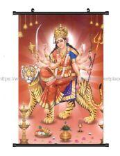 hindu goddess durga wall scroll cloth poster cheap wall art