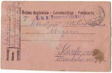 "Montenegro 1917 Austria FPO Stari Bar ""c"" stationery card"