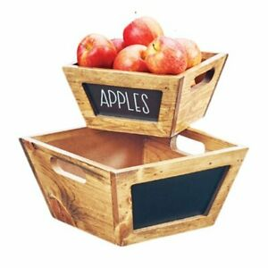 """Cal-Mil 3593-10-99 Chalkboard Bowl, 5"""" Height, 10"""" Width, 10"""" Length, Madera"""