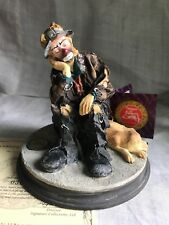 "Autographed Flambro Emmett Kelly Jr. 1994 Images Of Emmett ""Best Of Friends�"