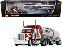 "Peterbilt 389 Tanker Trailer ""Time D.C."" Burgundy 1/64 Diecast  DCP/First Gear"
