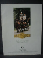 1986 Concord Saratoga Watch Horse Print Ad 12769