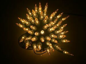Mini Lichterkette 100er Weihnachten Tannenbaum innen NEU grün/GOLD  Neu