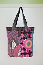 DESIGUAL WOMENS SHOPPING SHOULDER BAG HANDBAG TOTE SATCHEL EMBROIDERED GIRL 5