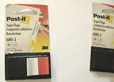 """Post-it Tape Flag Dispensers, 3M, 1in X 1.7"""", 680-1, 1 New 1 Used (Qty 2)"""