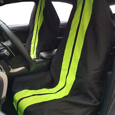 2PCS Throw Over Slip On Green Black Racing GT Car Seat Cover Easy Fit and Remove