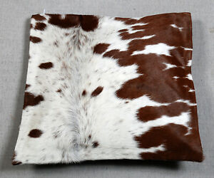 100% NEW COWHIDE LEATHER CUSHION COVER RUG COW HIDE HAIR ON CUSHION SA-7629