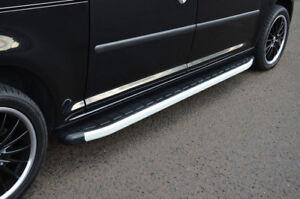 Alluminio Piastre Pedane Battitacco Per x-Lwb Mercedes-Benz viano (2004-14)