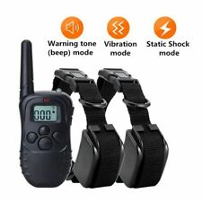 Electric Pet Dog Training Collar Lcd 300m Remote Control Shock Vibration Trainer