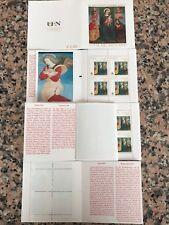 """Libretto numismatico NON OBLITERATO Città Del Vaticano 2009 """"Angelo Rosso"""":LEGGI"""