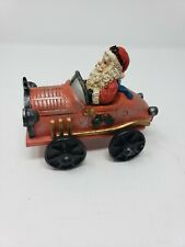 Vintage Santa in a Car Stocking Holder EXCELLENT CONDITION Resin chalkware