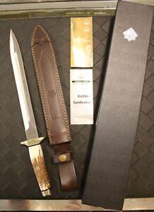 "New Puma IP Hirschfanger Handmade 17"" Hunting Dagger 809040 07/RC Stag Handle"