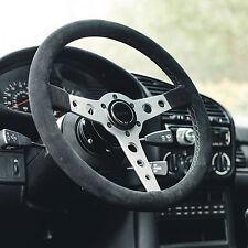 STEERING WHEEL ALCANTARA SUEDE *BLACK STITCH* VIILANTE CORSA 350mm - BMW E36 M3