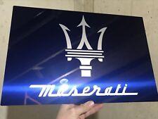 Uniq Premium HD Panel Brushed Aluminum Maserati Racing  Reproduction Garage Sign