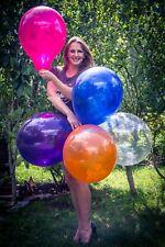 "5 x große Qualatex 16"" Luftballons in gemischten Kristallfarben *crystal colors*"