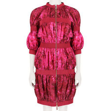 MONCLER GAMME ROUGE Exquisite Deep Pink Blossom Banded coat jacket size 2 it42