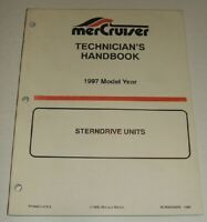 1997 MERCRUISER STERN DRIVE TECHNICIANS Service Manual ALPHA BRAVO BLACKHAWK