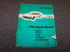 1983 Toyota Celica Supra Workshop Shop Service Repair Manual ST GT GTS 2.4L