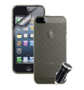 IPhone 5/5s/SE Essentials Accessories Pack USB Car Adaptor Screen Protector Case