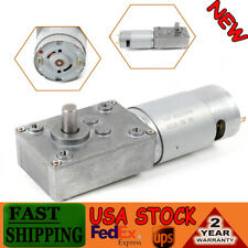 New 510rpm 24vreversible Low Speed Electric Gear Motor Turbo Worm Reducer 8mm