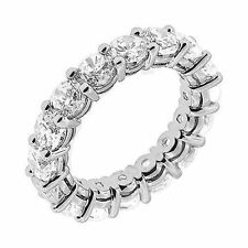 F Vs2, 15 x .45 ct sz 6.5 6.75 ct Round cut Diamond Ring Platinum Eternity Band