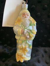 """Patricia Breen 2001 """"Santa for Avril� Ornament. Yellow/ Pearl"""