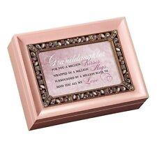 Roman Jeweled Music Box Granddaughter For You A Million Kisses #P0030 Nib