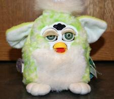 Vintage 1999 Furby Babies 70-940 Green White Confetti Blue/Green EyesRARE Works