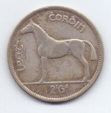 1942 Irish Silver Half-Crown Coin Scarce Leat Coroin Ireland