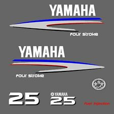 kit stickers YAMAHA 25 cv serie 2 - autocollant capot moteur hors-bord decals