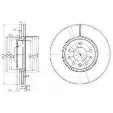 1X BRAKE DISC DELPHI BG3772C