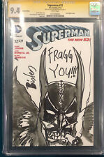 SIMON BISLEY ORIGINAL SIGNED SKETCH CGC 9.4 COMIC BATMAN LOBO SUPERMAN NOT CBCS