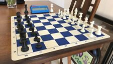 Staunton Tournament Chess Set with Weighted Chessmen ChessClock & Silicon Board