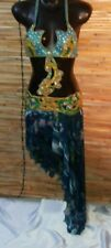 3 Pieces Egyptian Belly Dance Costume bra Belt Skirt Set Coblat Pro Dancing