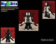 DEADPOOL Black Custom Printed & Inspired Marvel Lego Minifigure