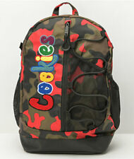 Cookies SF Smell Proof Red Camo Bungee Marijuana Dispensary Backpack Bag
