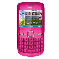 Tastiera Qwerty per Nokia C3-00 WiFi sbloccata Telefono cellulare originale Rosa
