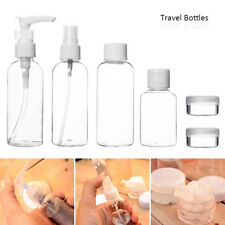 9X Travel Bottles Holiday Clear Plastic Jars Bag Flight Cosmetic