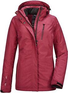 Women's KILLTEC Ostfold Functional Insulated Ski Jacket Zip-Off Hood Snow Coat