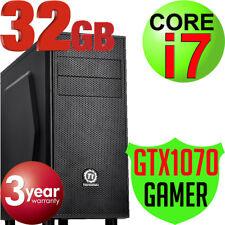 Intel Core i7-7700 32GB 2TB USB 3.1 GTX1070 Gaming Computer Tower Desktop PC NEW
