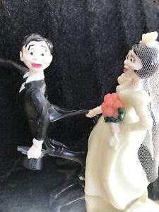 """Vintage Wilton 5"""" Wedding Cake Topper Runaway Groom 1972"""