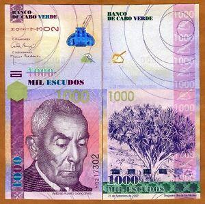Cape Verde, Africa, 1000 Escudos, 2007, P-70, UNC