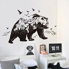 Hot Mountain Black Bear Animal Living Room Decoration Murals PVC Wall Stickers