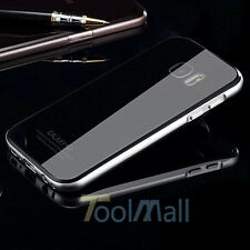 Luxury Metal Bumper Gorilla Glass Back Cover Case for Samsung Galaxy S7 /S7 Edge