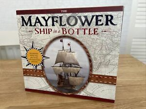 MAYFLOWER PILGRIMS SHIP MODEL KIT MAKES SHIP IN A BOTTLE NEW NEVER BUILT & BOOK