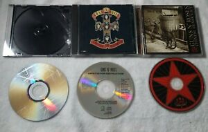 GUNS `N` ROSES CD LOT : CHINSES DEMOCRACY/APPETITE FOR DESTRUCTION/GREATEST HITS